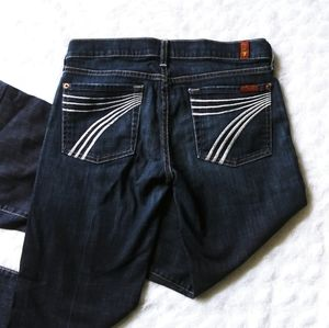 "7 For all mankind dojo jeans flare inseam 29"" blue"